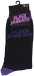 Black Sabbath - Wavy Logo Black Sock (UK Size 7-11)