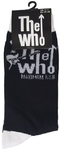 The Who - Maximum R&B Black Sock UK Size 7-11 (Euro Sizes Approx Size 40-45)