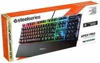 SteelSeries - APEX PRO Mechanical Gaming Keyboard, Adjustable Actuation Switches, OLED Display, Red Switches, American QWERTY Layout (PC/Gaming) - Cover
