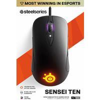 SteelSeries - Sensei Ten - Gaming Mouse - 18,000 CPI Truemove Pro Optical Sensor - Ambidextrous design - 8 Programmable Buttons - RGB Lighting (PC)