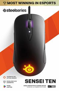 SteelSeries - Sensei Ten - Gaming Mouse - 18,000 CPI Truemove Pro Optical Sensor - Ambidextrous design - 8 Programmable Buttons - RGB Lighting (PC) - Cover