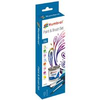 Humbrol - Enamel Creative Paint and Brush Set