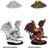 Dungeons & Dragons - Nolzur's Marvelous Unpainted Miniatures - Red Dragon Wyrmling (Miniatures)