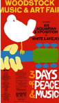 Woodstock - 3 Days of Peace & Music Textile Poster
