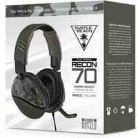 Turtle Beach - Recon 70 Ear Force Wired Gaming Headset - Green Camo (PS4, Xbox One, Nintendo Switch, Mobile)