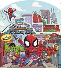 Super Hero Adventures: Amazing Chase - Marvel (Board Book) - Cover