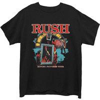 Rush - Moving Pictures Men's T-Shirt - Black (Medium) - Cover