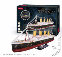 Cubicfun - Titanic with LED Unit (266 Pieces) - Cover