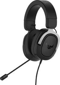 ASUS TUF Gaming HS 7.1 Surround Sound Deep Bass Gaming Headset Silver (PC/Gaming) - Cover