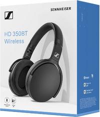 Sennheiser HD 350 BT Over-Ear Bluetooth Headphones (Black) - Cover