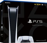 PlayStation 5 - Digital Edition - 825GB SSD Console - Glacier White (PS5 (Second Drop Alloction Now Sold Out)) - Cover