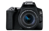 CANON EOS 250D Camera Body Black, EF-S18-55mm, Shoulder Bag, SD Card