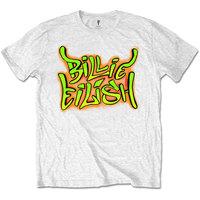 Billie Eilish - Graffiti Boys T-Shirt - White (5-6 Years) - Cover