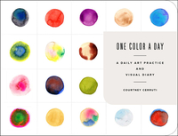 One Color a Day Sketchbook: A Daily Art Practice and Visual Diary - Courtney Cerruti (Hardcover) - Cover