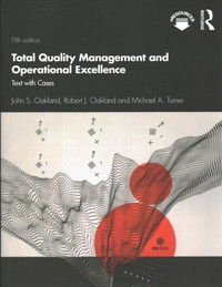 Total Quality Management and Operational Excellence - John S. Oakland (Paperback) - Cover