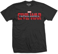 Marvel - Captain America Movie Logo Unisex T-Shirt - Black (Small) - Cover