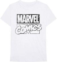 Marvel Comics - Logo Unisex T-Shirt - White (Medium) - Cover