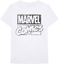 Marvel Comics - Logo Unisex T-Shirt - White (X-Large) - Cover