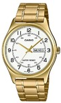 Casio MTP-V006G-7BUDF Analogue Wrist Watch (Gold Tone and White)