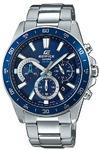Casio Edifice Analogue Wrist Watch (Silver and Blue)