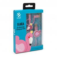 Swipe - Flamingo 3-In-1 USB Cable - Pink