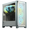 Corsair - 4000D AIRFLOW Tempered Glass Mid-Tower ATX Case - White