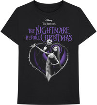 The Nightmare Before Christmas - Purple Heart Unisex T-Shirt - Black (Large) - Cover