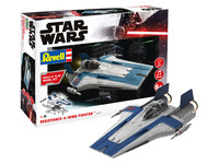 Revell - 1/144 - Star Wars - Resistance A-wing Fighter - Blue (Plastic Model Kit) - Cover