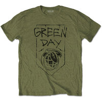 Green Day - Organic Grenade Unisex T-Shirt - Green (Small) - Cover