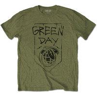 Green Day - Organic Grenade Unisex T-Shirt - Green (XX-Large) - Cover