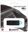Kingston Technology - DTX/64GB DataTraveler Exodia 128GB USB 3.2 Flash Drive (Black/Blue loop attach to key rings)