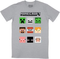 Minecraft - Niner - T-Shirt - Grey/Melange (8-9 Years) - Cover