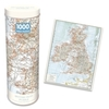 Vintage British Isles Map Puzzle In a Tin (1000 Pieces)