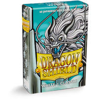 Dragon Shield - Japanese Size Sleeves - White Fulgor (60 Sleeves)