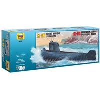 Zvezda - 1/350 - K-19 Soviet Nuclear Submarine (Plastic Model Kit)