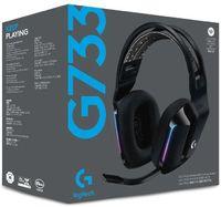 Logitech - Lightspeed Gaming Wireless RGB G733 Headset - Black - Cover