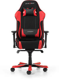 DXRacer - King K11-NR Frabric/Leather Gaming Chair - Black/Red
