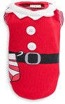 Dog's Life - Cute Santa Tee With Sock - Red (Large)