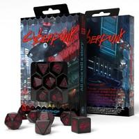 Q-Workshop - Set of 7 Polyhedral Dice - Cyberpunk Red