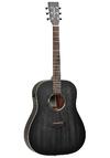 Tanglewood TWBBSDE Blackbird Dreadnought Electric Acoustic Guitar (Smokestack Black Satin)