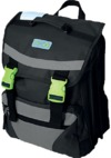 Eco Earth - 3 Division School Back Pack - Black