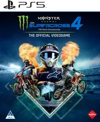 Monster Energy Supercross: The Official Videogame 4 (PS5) - Cover