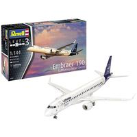 Revell - 1/144 - Embraer 190 Lufthansa (Plastic Model Set)