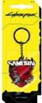 Cyberpunk 2077 - Samurai Logo Keychain - Silver