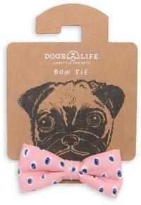 Dog's Life - Bow Tie Eyes Doodle - Pink (Medium)