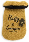 Dog's Life - Fluffy and Courageous Winter Cape - Mustard Yellow (Medium)