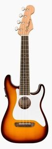 Fender Fullerton Stratocaster Concert Ukulele with pickup (Sunburst)