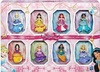 Disney Princess - Sparkling Dolls with Clip On Dresses (Set of 8)