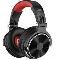 OneOdio Pro-10 Wired Studio & DJ Headphones (Black & Red)