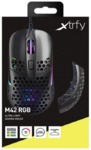 Xtrfy - M42 Wired Optical Ultra-Light Gaming Mouse, USB, 400-16000 DPI, Omron Switches, Adjustable RGB, Modular - Black